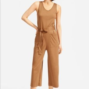 NEW Everlane The Luxe Cotton Jumpsuit XS Tan